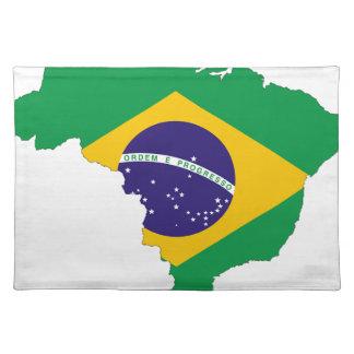Brazil Flag Map Symbol Brazilian Country Placemat