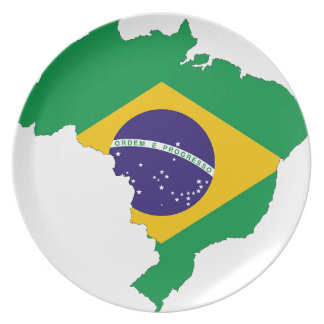 Brazil Flag Map Symbol Brazilian Country Plate