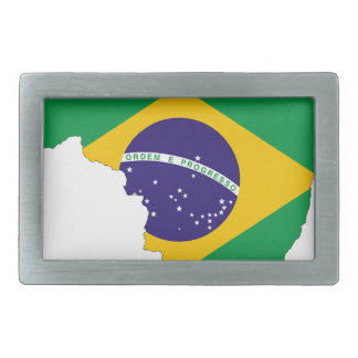 Brazil Flag Map Symbol Brazilian Country Rectangular Belt Buckle
