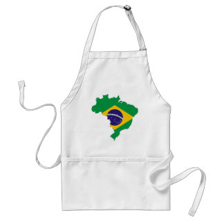 Brazil Flag Map Symbol Brazilian Country Standard Apron