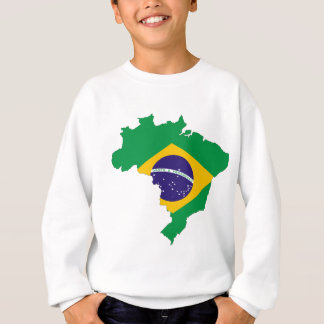 Brazil Flag Map Symbol Brazilian Country Sweatshirt