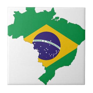 Brazil Flag Map Symbol Brazilian Country Tile