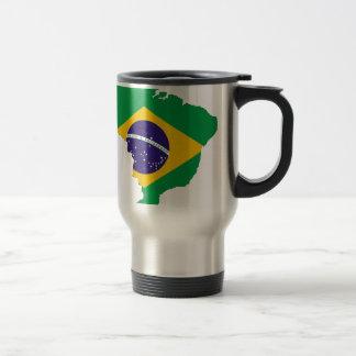 Brazil Flag Map Symbol Brazilian Country Travel Mug