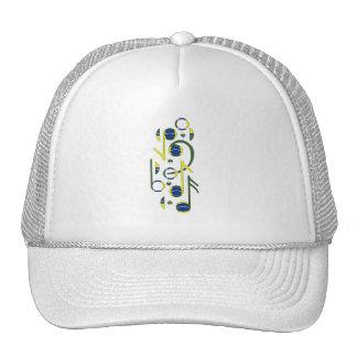 Brazil Flag Music Notes Mesh Hats