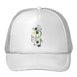 Brazil Flag Music Notes Trucker Hat