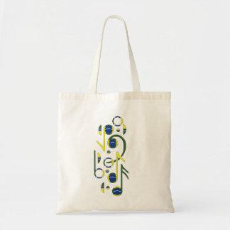 Brazil Flag Musical  Tote Bag