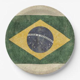 Brazil Flag Paper Plates