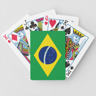Brazil flag poker deck