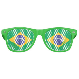 Brazil flag quality retro sunglasses