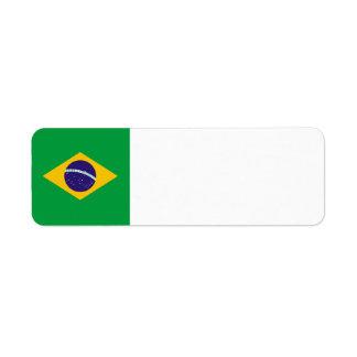 Brazil Flag Return Address Label