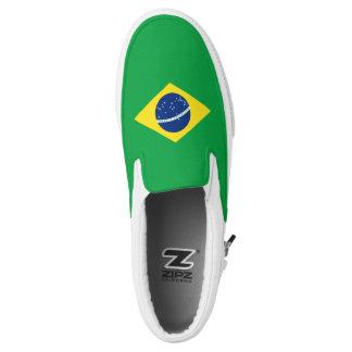 Brazil Flag Slip On Shoes