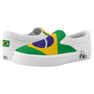 Brazil Flag Slip-On Sneakers