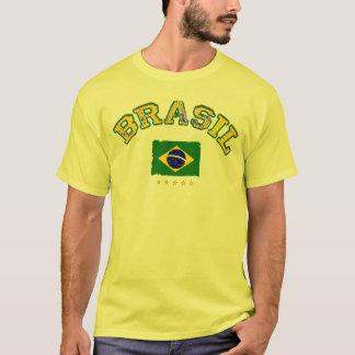 Brazil flag soccer style T-Shirt