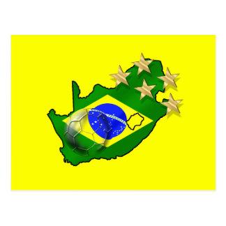 Brazil Flag South Africa Map Brazilian gifts Postcard