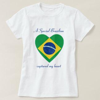 Brazil Flag Sweetheart T-Shirt