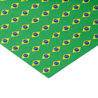 Brazil Flag Tissue Paper