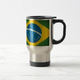 Brazil Flag Travel Mug