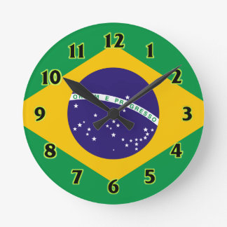 Brazil Flag WallClocks