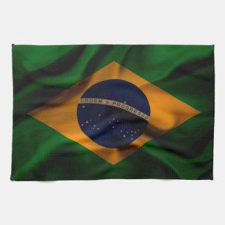 Brazil Flag waving silk Towel