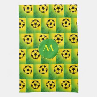 Brazil football pattern towels