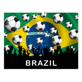 Brazil Football Postcard