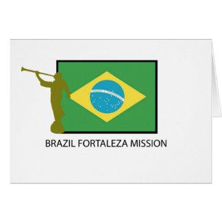 BRAZIL FORTALEZA MISSION LDS CARD