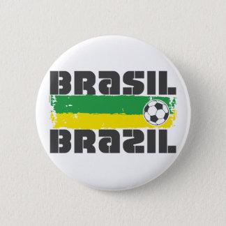 Brazil Futbol 2 Inch Round Button