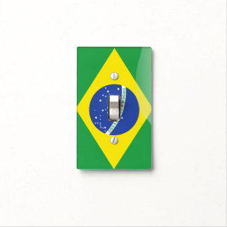 Brazil glossy flag light switch cover