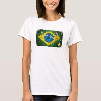 Brazil Grunge flag for Brazilians worldwide T-Shirt