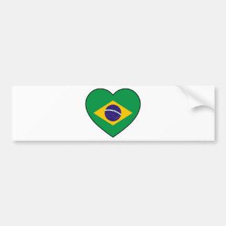 Brazil Heart Soccer Autocollant De Voiture