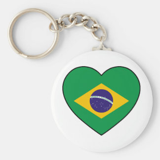 Brazil Heart Soccer Porte-clés