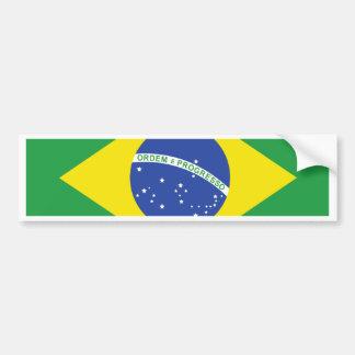 Brazil High quality Flag Bumper Sticker