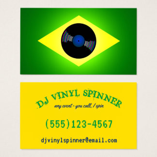 Brazil inspired DJ Business Card