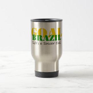 Brazil - Life's A Soccer Ball Travel Mug