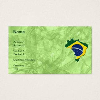 Brazil map business card