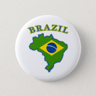 BRAZIl Map/Flag 2 Inch Round Button