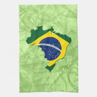 Brazil map hand towel
