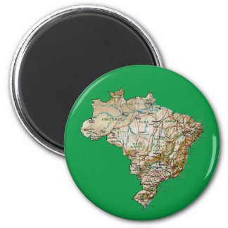 Brazil Map Magnet