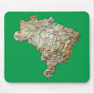 Brazil Map Mousepad