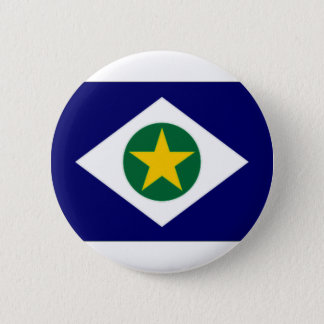 Brazil Mato Grosso Flag 2 Inch Round Button