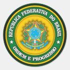 Brazil Medallion 2 Classic Round Sticker