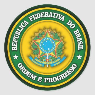 Brazil Medallion 2 Classic Round Sticker