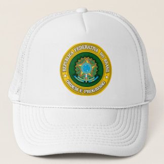 Brazil Medallion Trucker Hat