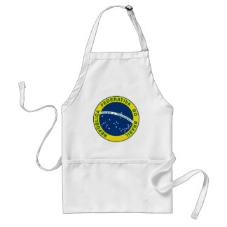 brazil national seal adult apron