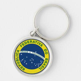 brazil national seal keychain