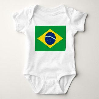 Brazil National World Flag Baby Bodysuit