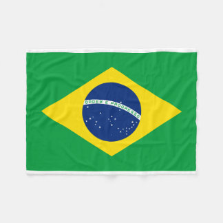 Brazil National World Flag Fleece Blanket