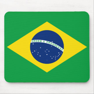 Brazil National World Flag Mouse Pad