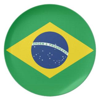 Brazil National World Flag Party Plates