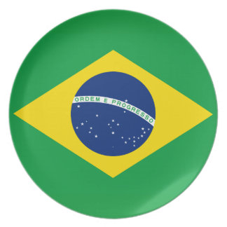 Brazil National World Flag Plate